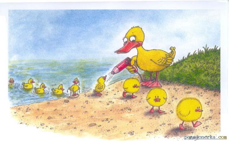 Первый, рисунок утка смешные